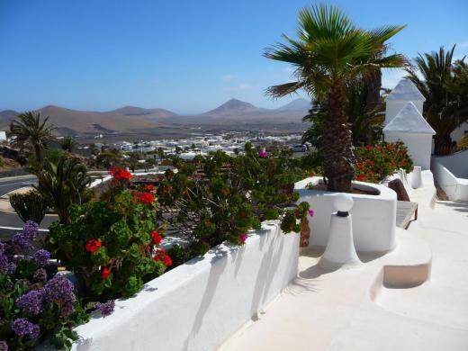 Panorama depuis une terrasse