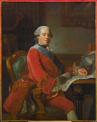 A. Roslin : Abel-François Poisson de Vandières, marquis de Marigny, 1764, Versailles