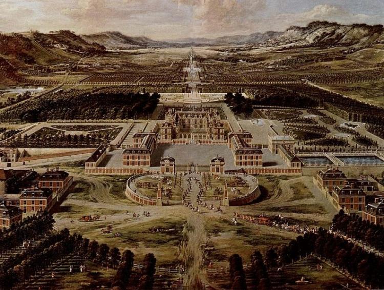 Pierre Patel, vue général de Versailles, vers 1668, Château de Versailles