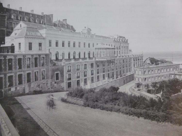 Alphonse Bertrand, Casino Bellevue, 1856-1857, élévation originelle en brique et pierre de Bidache