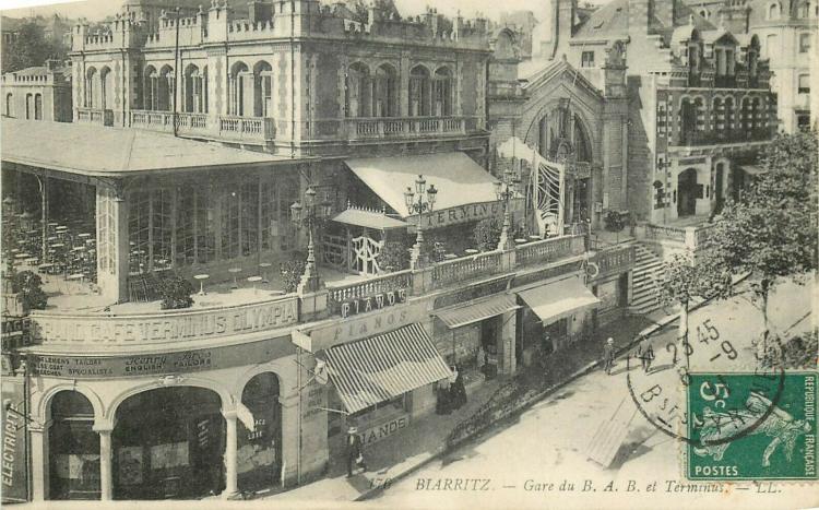 Biarritz, gare du BAB, années 1880