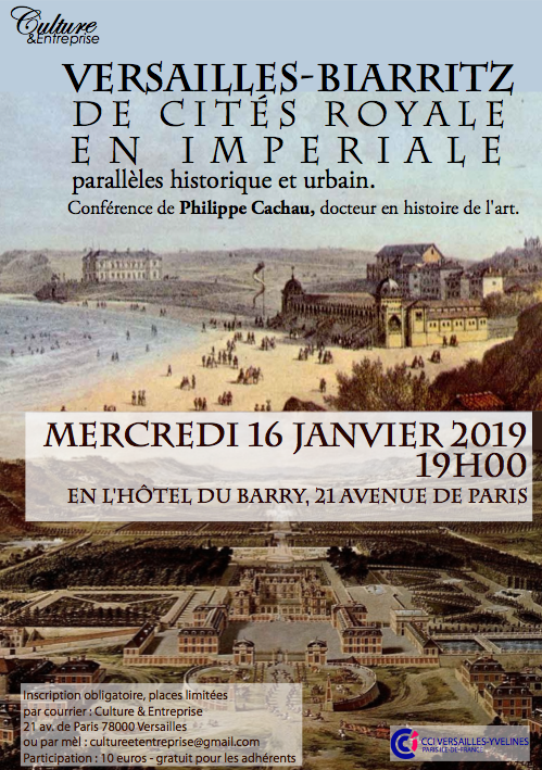 Affiche Biarritz - Versailles, conférence 16 janvier 2019