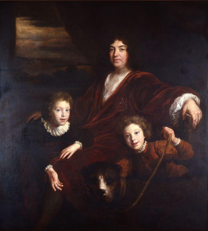 Bon de Boullogne, Antoine V de Gramont et ses deux fils Louis-Antoine-Armand (1688-1741), duc de Louvigny et Louis (1689-1745), comte de Gramont, 1699 (Bayonne, Musée basque, collection Gramont)