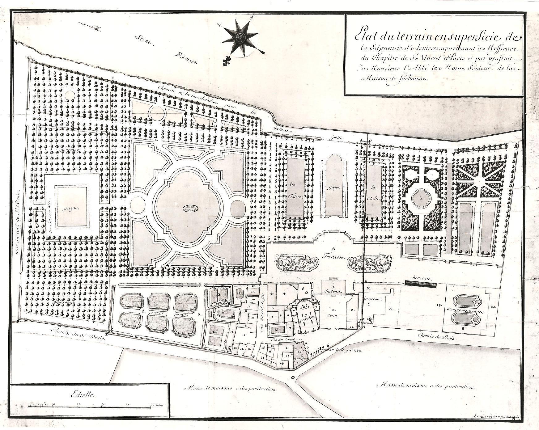 Le château d'Asnières et son parc, annees 1700