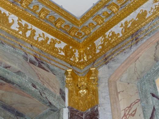 Détail du décor de la salle à manger d'Asnières (cl. Ph. Cachau)