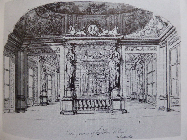 William Chambers : Cariatides de la salle à manger de l'hôtel d'Argenson à Paris, 1774, Londres, British Institute