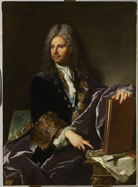 Hyacinthe Rigaud : Robert de Cotte, architecte de Philippe V au Buen Retiro de Madrid, 1713, Louvre