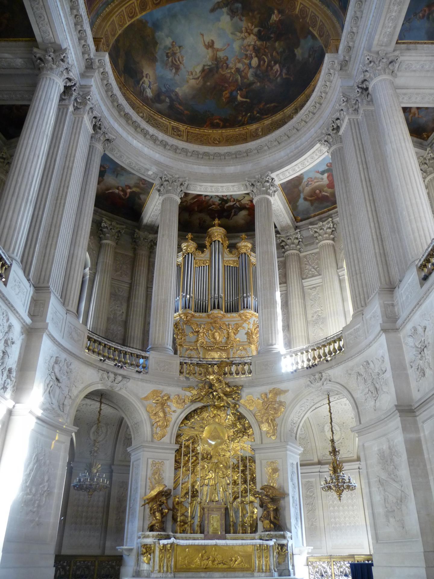 Jules Hardouin-Mansart - Robert de Cotte, maitre-autel et orgues de la chapelle royale de Versailles, 1708-1710, cl. Ph. Cachau