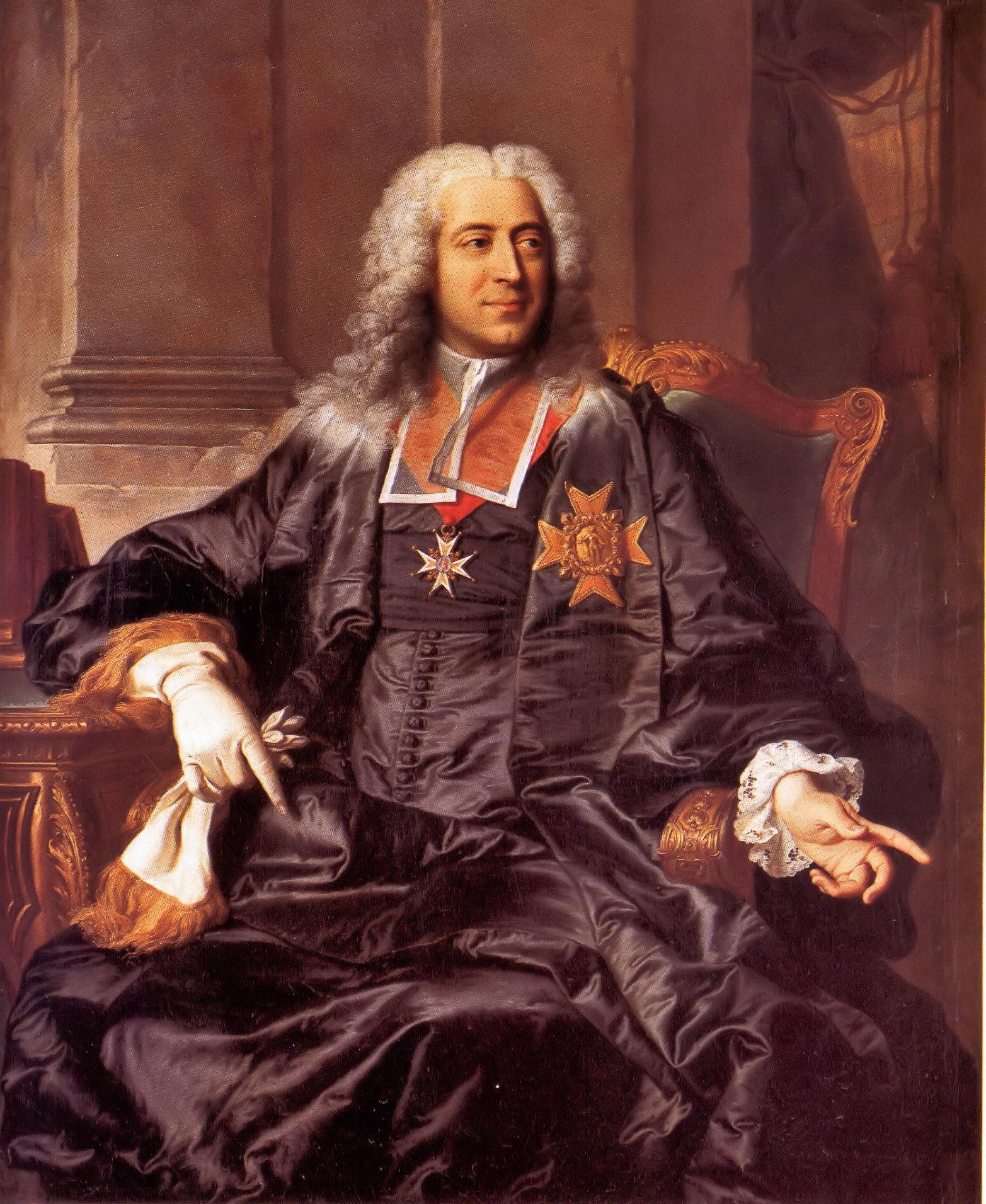 Hyacinthe Rigaud, Comte Marc-Pierre de Voyer de Paulmy d'Argenson, 1732, collection privée.