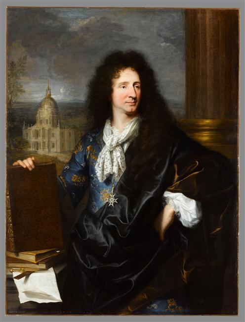 Hyacinthe Rigaud, Jules Hardouin-Mansart, 1685, Louvre
