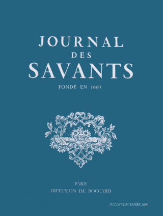Journal des Savants couverture