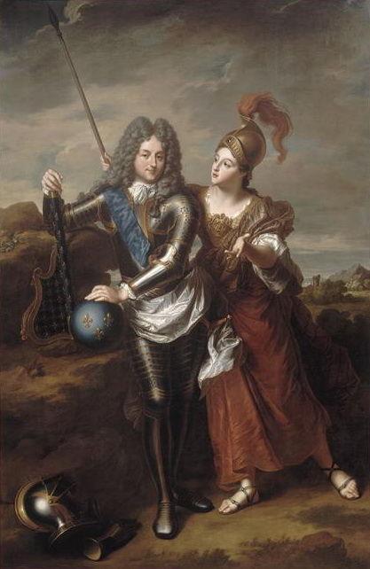 Jean-Baptiste Santerre, le Regent et Mme de Parabere en Minerve, château de Versailles, vers 1716