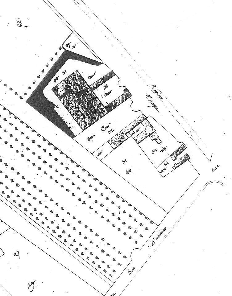 Les haras d'Asnières en 1769, Archives Nationales, détail