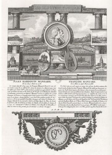 Les Mansart, gravure XVIIIe
