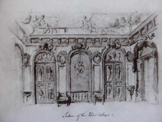W. Chambers : Salon de l'hôtel d'Argenson, 1774, Londres