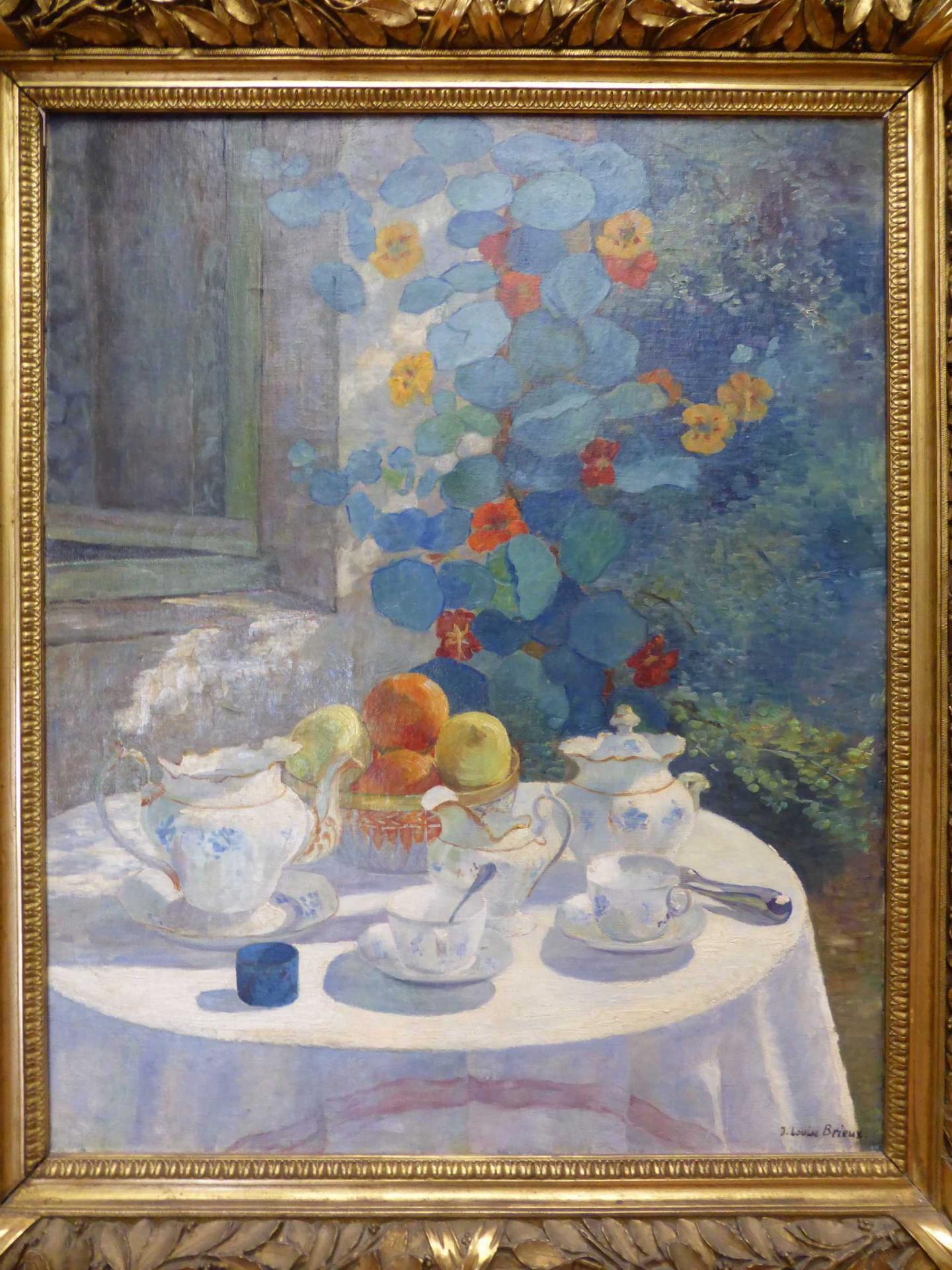 Jeanne-Louise Brieux, Le goûter au soleil, vers 1920, Libourne, Musée municipal (cl. Ph. Cachau)
