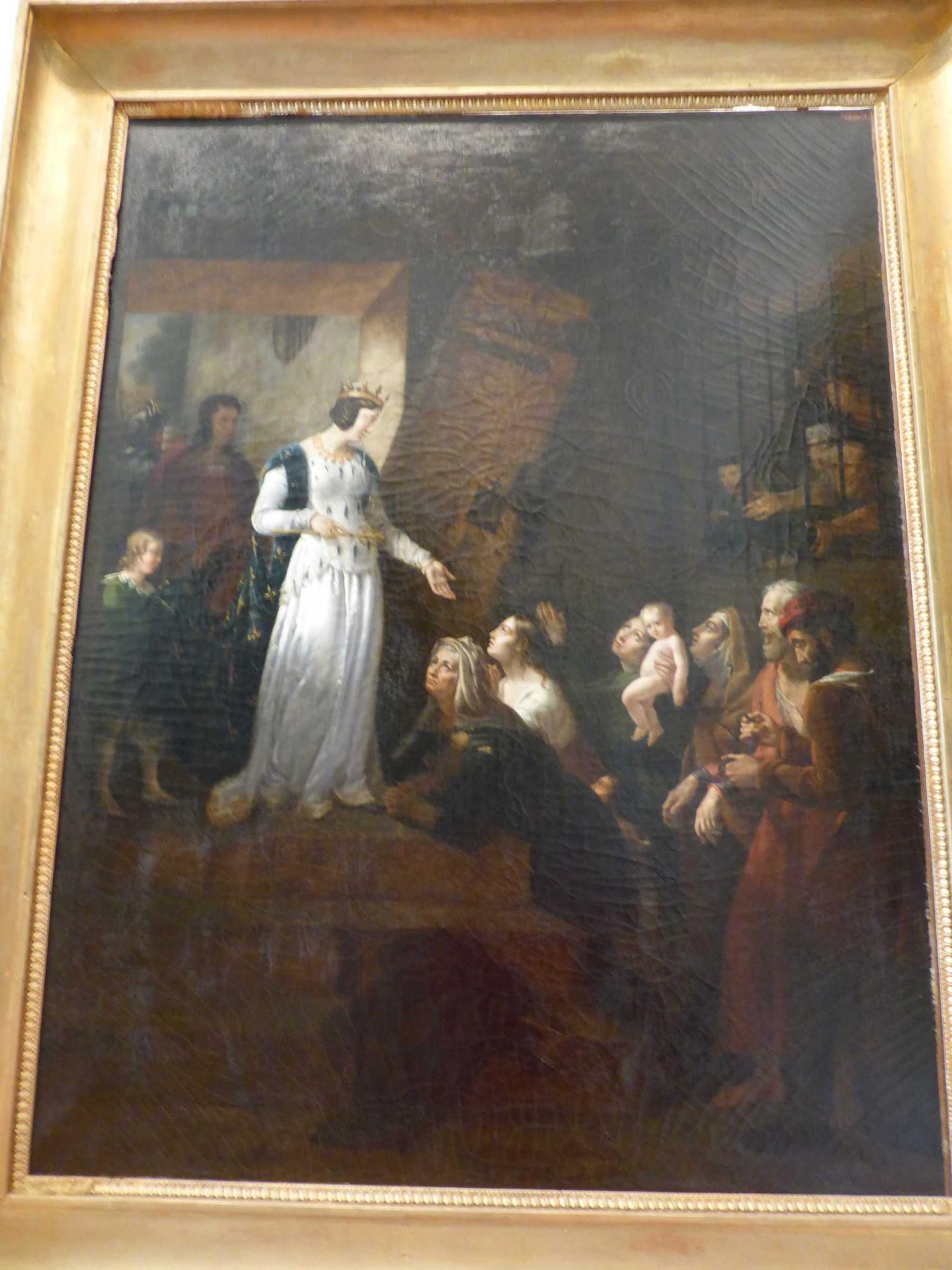 Eugénie Servières, La reine Blanche, mère de saint-Louis, délivrant les prisonniers, 1818-1819, Libourne, Musée municipal (cl. Ph. Cachau)