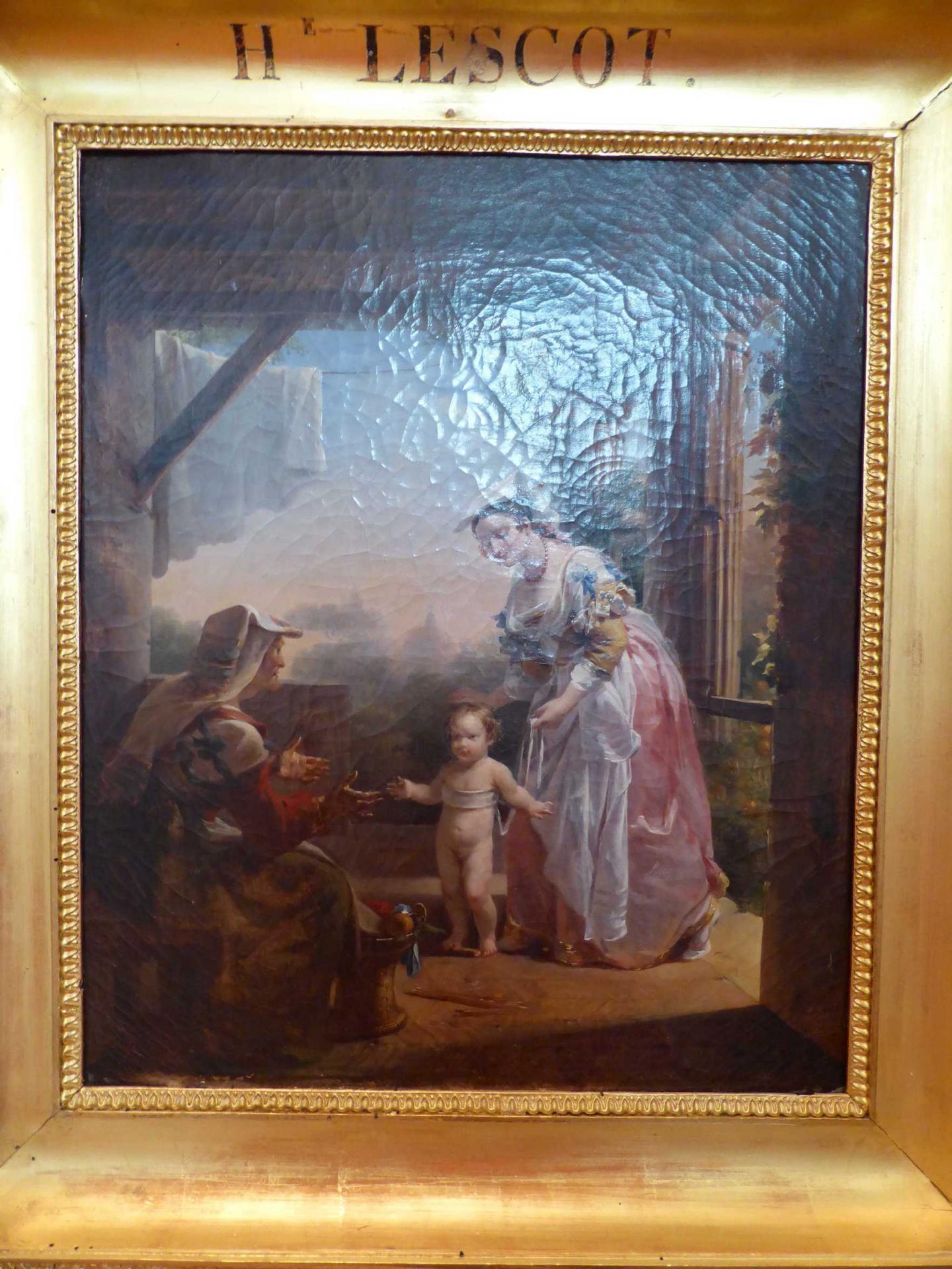 Antoinette Haudebourg-Lescot, Les premiers pas de l'enfance, 1818, Libourne, Musée municipal (cl. Ph. Cachau)