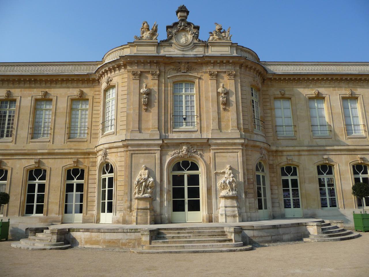 Mansart de Sagonne, avant-corps du château d'Asnières, côté jardin, 1750-1752