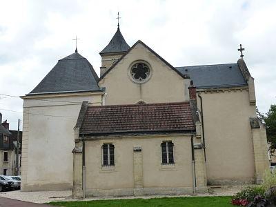 Chevet de l'église de Soisy-sur-Seine, chapelle sépulcrale de Nicolas de Bailleul, 1653 (à gauche), cl. Ph. Cachau.