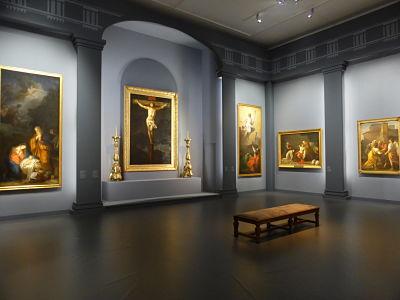 Dernière salle de l'exposition, période néo-classique (cl. Ph. Cachau)