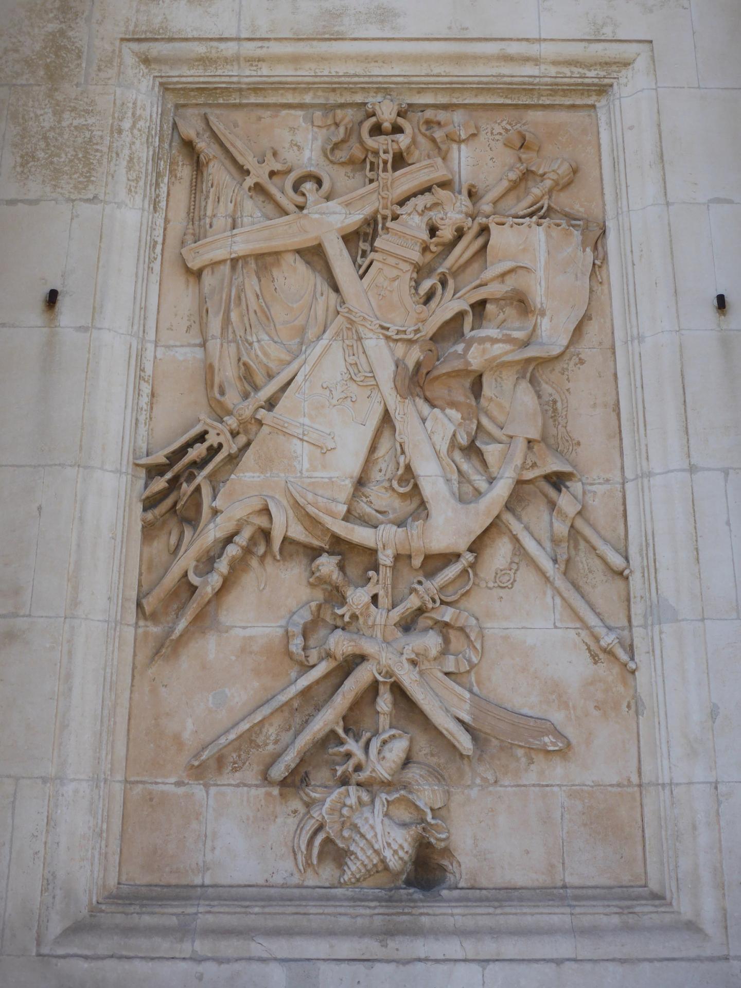 Joseph Hubac, dit l'Ancien : Trophées marins, vers 1730 (cliché Philippe Cachau)