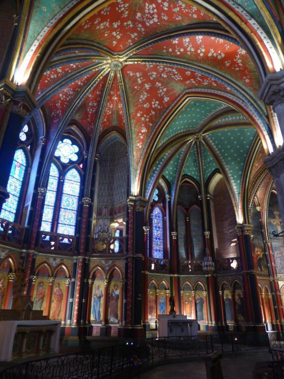 Chapelles de la Vierge et Saint-Jacques, déambulatoire, cathédrale Sainte-Marie, Bayonne, fin XIXe, cl. Ph. Cachau