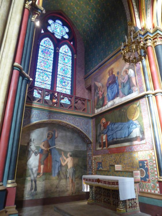 Chapelle Saint-Martin, cathédrale Sainte-Marie de Bayonne, déambulatoire, fin XIXe, cl. Ph. Cachau