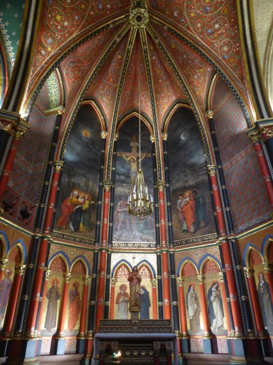 Chapelle du Sacré-Coeur, cathédrale Sainte-Marie, Bayonne, déambulatoire, fin XIXe, cl. Ph. Cachau