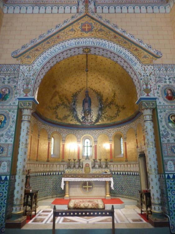Louis-Charles-Auguste Steinheil, sanctuaire de Notre-Dame de Guadalupe, chapelle impériale, Biarritz, 1865, cl. Ph. Cachau