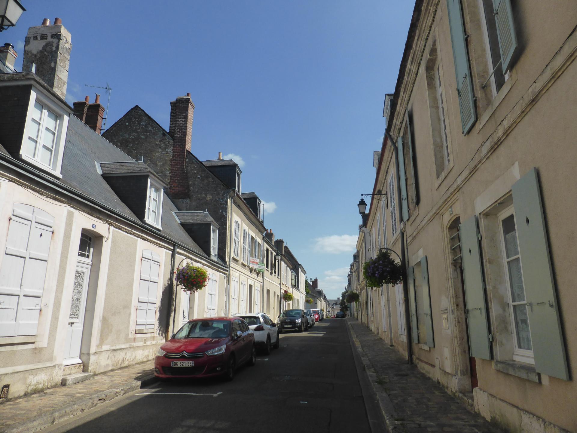 Châteaudun, maisons à comble mansardé, XVIIIe siècle, cl. Ph. Cachau