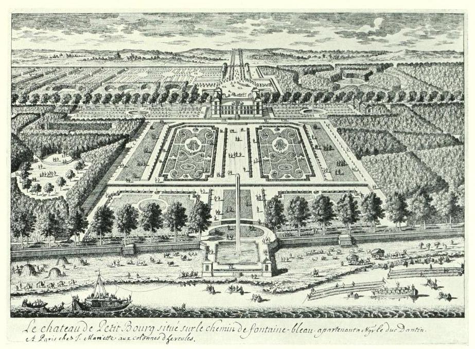 Château de Petit-Bourg, gravure par Pérelle, XVIIIe siècle