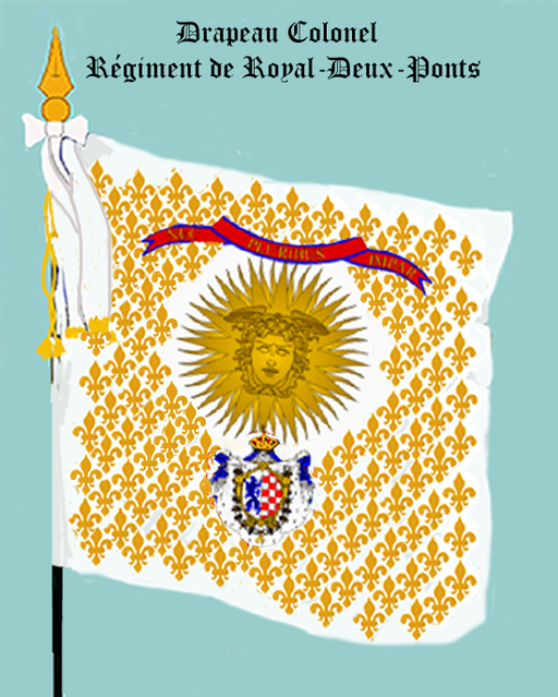 Regiment royal Deux-Ponts, drapeau Colonel, 1757-1791