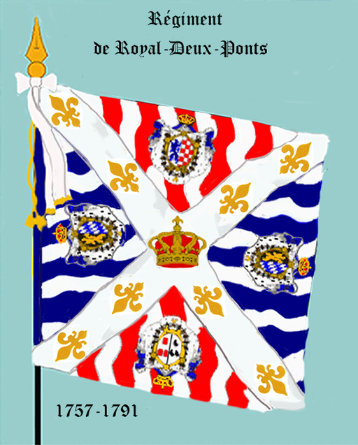 Regiment royal Deux-Ponts, drapeau d'ordonnance, 1757-1791